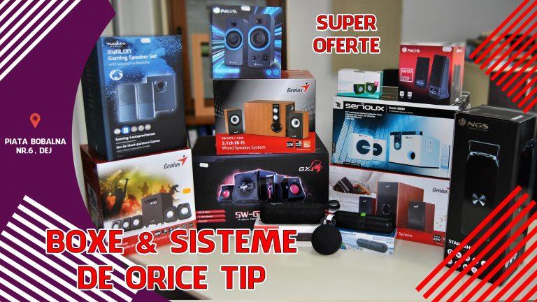 LA PC MANIA GASESTI SISTEME AUDIO – BOXE DE ORICE TIP LA SUPER OFERTE!